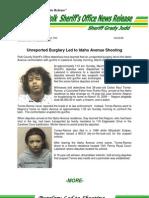 Unreported Burglary Led to Idaho Avenue Shooting