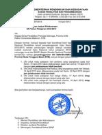 Surat Perubahan Jadwal Un Prov Ntb