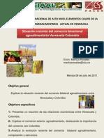 Maritza Rosales, 2011,  Situación reciente del comercio binacional agroalimentario Colombia-Venezuela