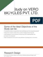 Case Study on Vero Bicycles Pvt