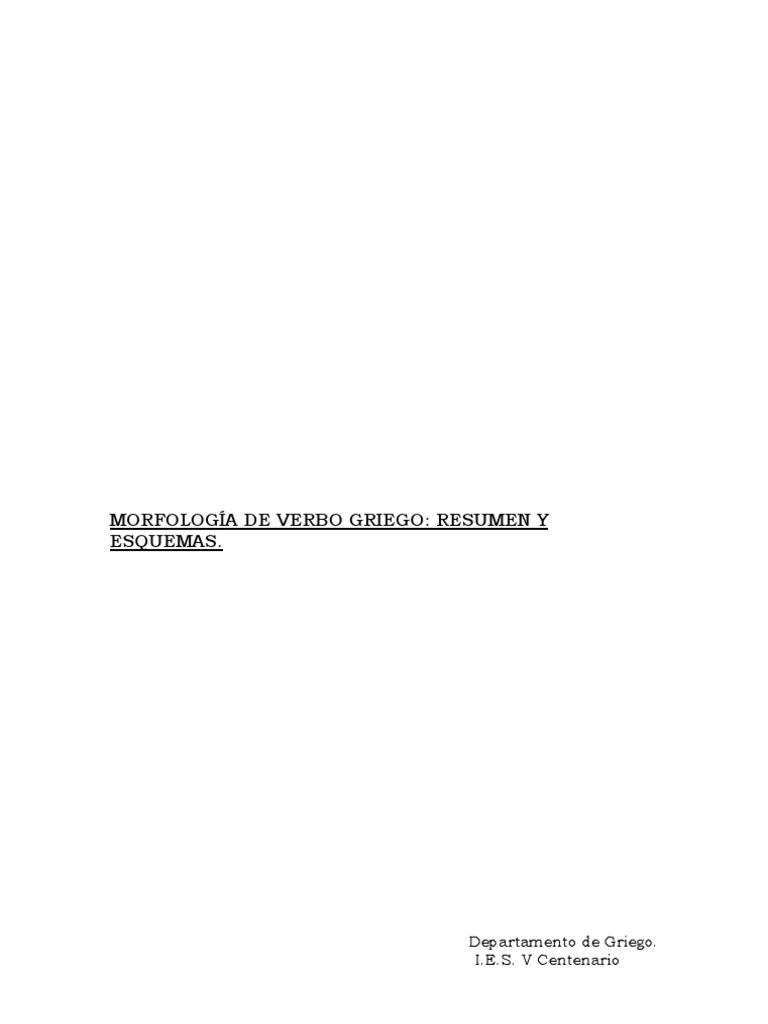 Morfologia De Verbo Griego Introduccion Tema De Presente