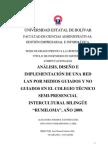 ANALISIS Y DISEÑO E IMPLETACION DE UNA RED LAN PRIMERA PARTE
