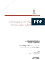 Effects of Career Plateau on Job Satisfaction and Motivation