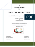 Digital Signature Project Report