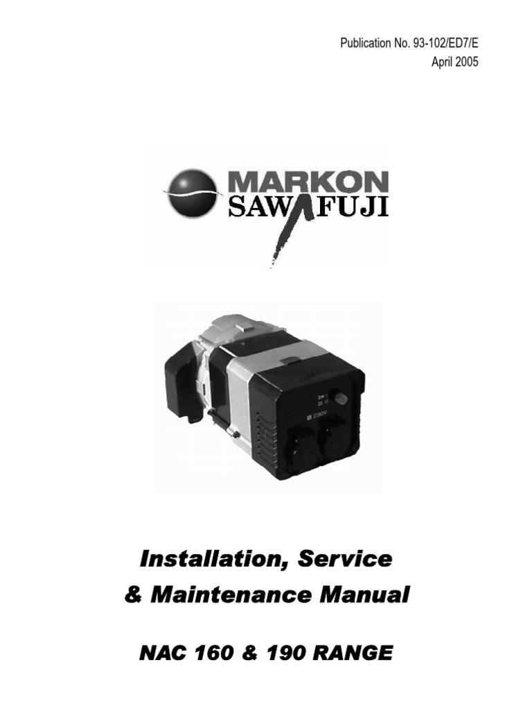 Manual Markon NAC160 NAC190   Electric Generator   Series ... on