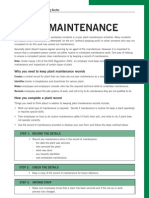 Recording Plant Maintenance Factsheet