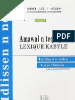 Lexique Kabyle Du Corps Humain ( Mohand Akli HADDADOU)