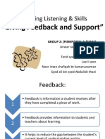 Assessing Listening & Speaking Skills Giving Feedback and Support