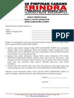 Surat Pernyataan Caleg