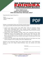 Surat Pernyataan Caleg-provinsi
