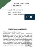 Presentasi Penganggaran Modal