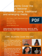 JOMC Students Cover the Democratic National Convention Using