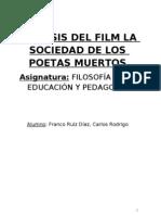 ANÁLISIS DEL FILM LA SOCIEDAD DE LOS POETAS MUERTOS
