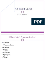GRE Flash Cards- Wordgroups