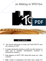 Decision Making in WTO Era