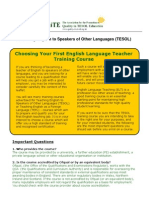 Guide to Choosing Your 1st TESOL or TEFL Course