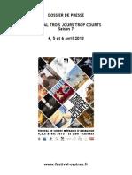 Dossier de Presse 2013