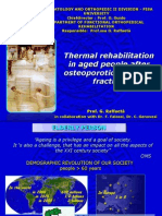 Thermal rehabilitation in aged people after osteoporotic vertebral fracture
