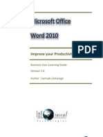 Microsoft Office Word 2010 - Learning Guide