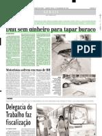 2003.01.15 - Dnit Sem Dinheiro Para Tapar Buraco - Estado de Minas