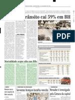 2003.01.23 - Mortalidade Segue Alta Nas BRs - Estado de Minas
