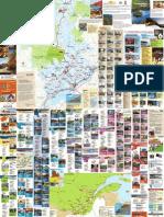 Carte de La route des gîtes du Québec 2009