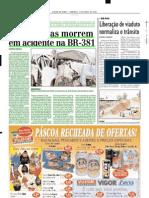2003.04.13 - Sete Pessoas Morrem Em Acidente Na BR-381 - Estado de Minas