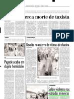 2003.05.18 - Saldo Violento Nas Estradas Mineiras - Estado de Minas