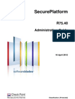CP R75.40 SecurePlatform AdminGuide