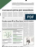 2003.08.02 - Trechos Com Problemas Nas Rodovias Federais Que Cortam Minas Gerais - Estado de Minas