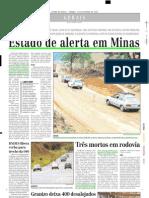 2003.10.25 - Estado de Alerta Em Minas - Estado de Minas
