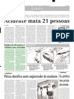 2003.12.17 - Rotina de desastres e vítimas nas estradas - Estado de Minas