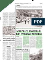 2003.12.29 - Acidentes Matam 35 Nas Estradas Mineiras - Estado de Minas