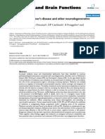 Melatonin in Alzheimer's disease and other neurodegenerative disorders