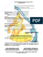 Registration Form for a Beauty Pageant
