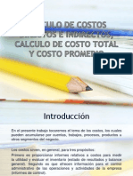 Calculo de Costos Directos e Indirectos, Calculo