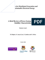 A Brief Review of Power System Dynamic Stability Characteristics