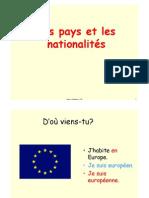 adj nationalités