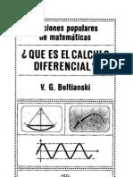Que Es El Calculo Diferencial - Ed MIR - Boltianski