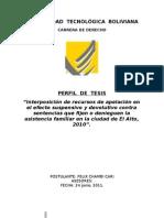 Perfil de Tesis Asistencia Familiar 2011