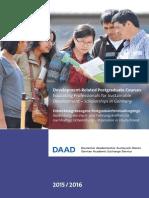 Postgraduate Courses 2015-16