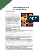 Chá de folha de papaia revela ação surpreendente contra o câncer