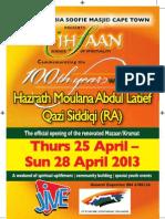 Habibia Soofie Masjid (Cpt) event update