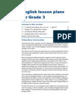 bi grade 3 - lesson plan