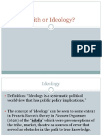 Faith or Ideology
