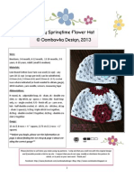 Simply Springtime Flower Hat