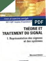 Messaoud Benidir-Théorie et Traitement du signal, tome 1 _ Représentation des signaux et des systèmes - Cours et exercices corrigés-Dunod (2002)