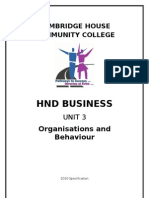 HND Business Unit 3 Assignment