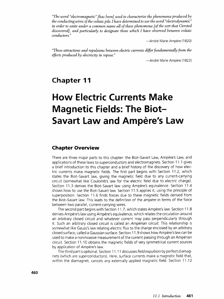 The Biot-Savart Law and Ampère's Law, physics vol | Magnetic Field