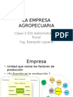 Clase 2 - La Empresa Agropecuaria